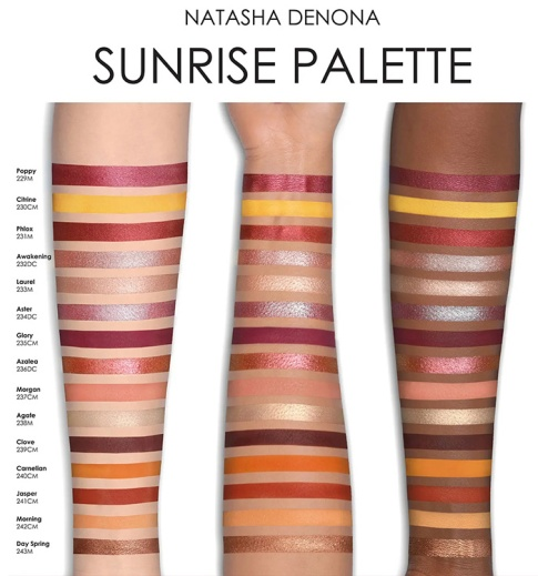 natasha-denona-sunrise-eyeshadow-palette-swatches